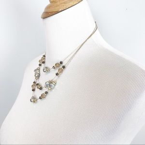 White House Black Market Jewelry - NWT WHBM 3 Tiered Beaded Necklace